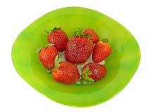 开胃牌照草莓 免版税库存图片