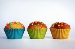 开胃甜杯形蛋糕 库存图片