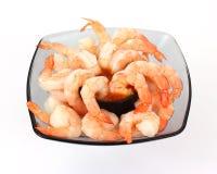 开胃用沙司服务虾 库存图片