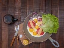 开胃经典早餐 免版税库存照片