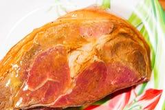 开胃肉片用在板材的香料 免版税图库摄影