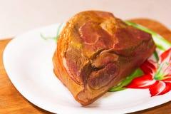 开胃肉片用在板材的香料 免版税库存照片