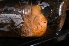 开胃肉片用在板材的香料 图库摄影