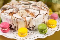 开胃自创饼用另外巧克力装饰近 库存照片