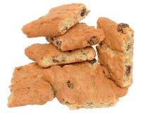 开胃芯片曲奇饼用葡萄干和脯塔iso 库存图片