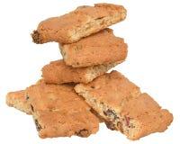开胃芯片曲奇饼用葡萄干和脯塔iso 库存照片