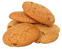 开胃芯片曲奇饼用葡萄干和脯塔iso 免版税库存照片