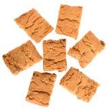 开胃芯片曲奇饼用葡萄干和脯顶视图 免版税库存照片
