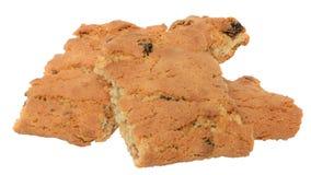 开胃芯片曲奇饼用被隔绝的葡萄干和脯 免版税库存图片