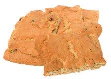开胃芯片曲奇饼用被隔绝的葡萄干和脯 库存图片