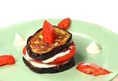 开胃茄子食物 免版税库存图片
