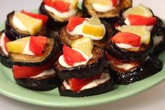 开胃茄子食物 免版税图库摄影