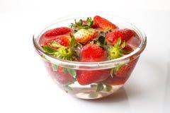 开胃草莓 在一个空白背景 免版税库存照片