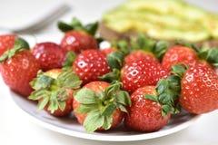 开胃草莓 库存图片
