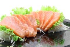 开胃菜三文鱼生鱼片 库存图片