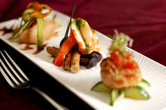 开胃菜创造性的烹调海鲜虾 库存图片