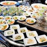 开胃菜和手指食物特写镜头 免版税库存图片
