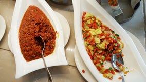 开胃菜在的烤胡椒餐馆 图库摄影