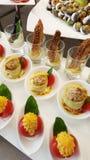 开胃菜在餐馆 免版税图库摄影