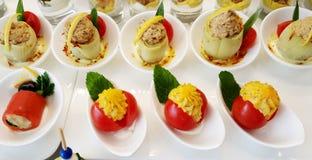 开胃菜在餐馆 免版税库存图片