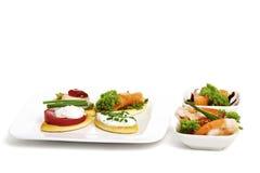 开胃菜差异 免版税库存图片