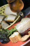 开胃菜干酪法国玫瑰酒红色 库存图片