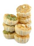 开胃菜微型乳蛋饼堆积了 免版税库存图片