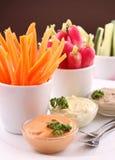 开胃菜新鲜自助餐的食物 免版税库存图片