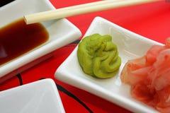 开胃菜日本调味汁寿司 库存图片