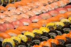 开胃菜日本maki寿司卷 库存照片