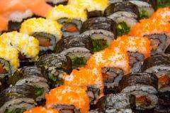 开胃菜日本maki寿司卷 免版税库存照片