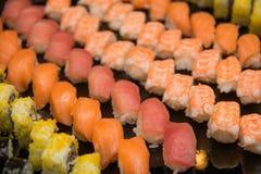 开胃菜日本maki寿司卷 库存图片
