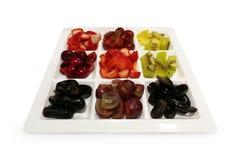 开胃菜果子健康果子混合白色背景 库存照片
