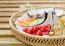 开胃菜樱桃可口dof浅蕃茄 库存图片