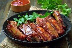 开胃菜烘烤切的猪排 免版税库存图片