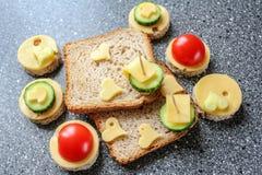 开胃菜用乳酪和菜 库存照片