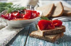 开胃菜用红辣椒 库存照片