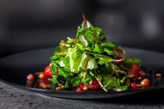 开胃菜用草本和石榴种子 库存照片