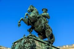 开胃菜的尤金王子雕象在维也纳 免版税库存图片