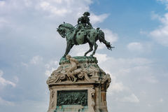 开胃菜的尤金王子骑马雕象  图库摄影