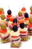 开胃菜的排列 图库摄影
