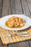 开胃菜的虾scampi 免版税库存图片