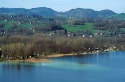 开胃菜的,法国Aiguebelette湖 图库摄影