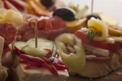 开胃菜种类在自助餐的 图库摄影