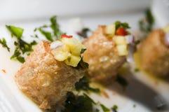 开胃菜结块泰国的螃蟹 免版税库存照片