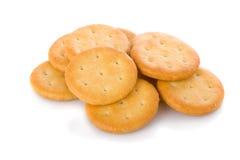 开胃菜薄脆饼干查出小的白色 免版税库存照片