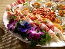开胃菜被分类的牌照 免版税图库摄影