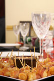 开胃菜被包裹的烟肉水晶 免版税库存图片