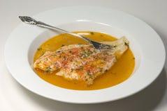 开胃菜被烘烤的比目鱼 免版税库存图片