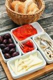 开胃菜食物或塔帕纤维布 库存照片